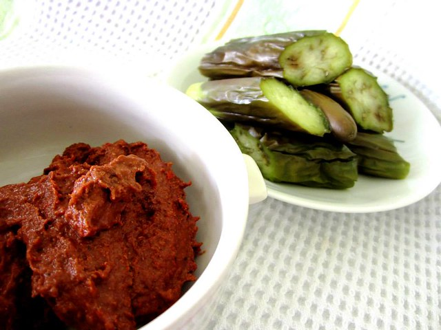 Sambal belacan & steamed brinjal ulam