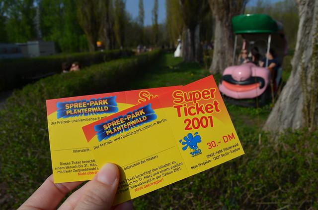 Spreepark Berlin Kulturpark Plaenterwald_abandoned amusement park_2001 park tickets deutschmarks