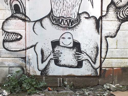Gremlin Alley street art and graffiti