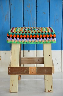 wood & wool stool pamela