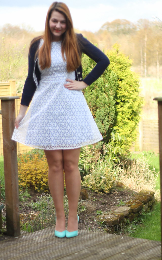 Floral spring dress outfit