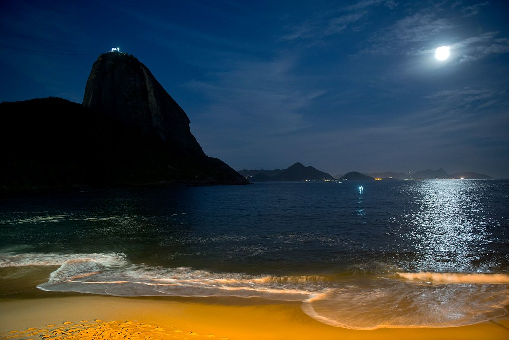 Praia Vermelha at Night
