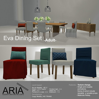 Eva dining set -ADULT- @ The garden!