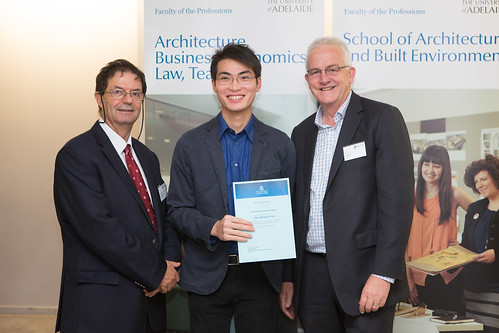 2013 Winner: Duy Dang Presented by Ian Hore (Director-WBA) and Prof George Zillante (Head of School)