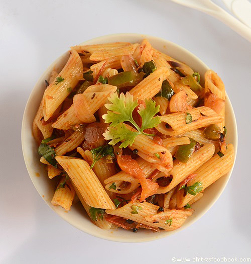 Pasta recipes with vegetables indian style