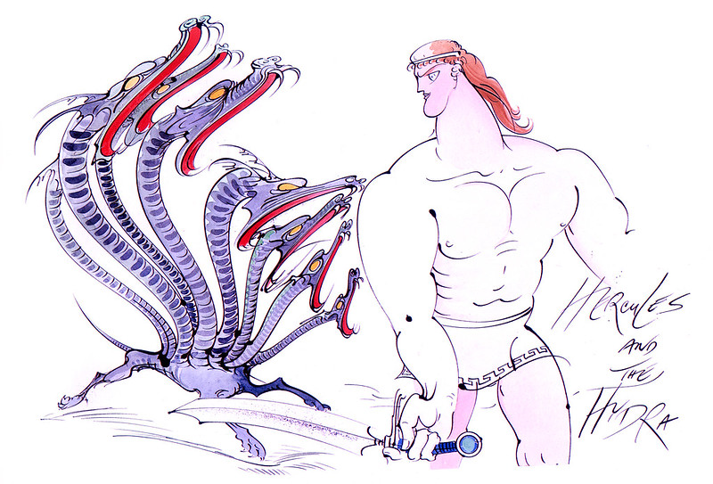 Gerald Scarfe - Hercules Conceptual Paintings 08