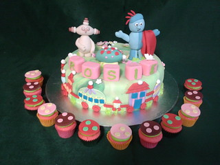 In the Night Garden with cupcakes