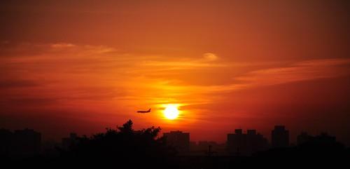 brazil brasil sunrise sãopaulo planes redsky 18105mm nikond90