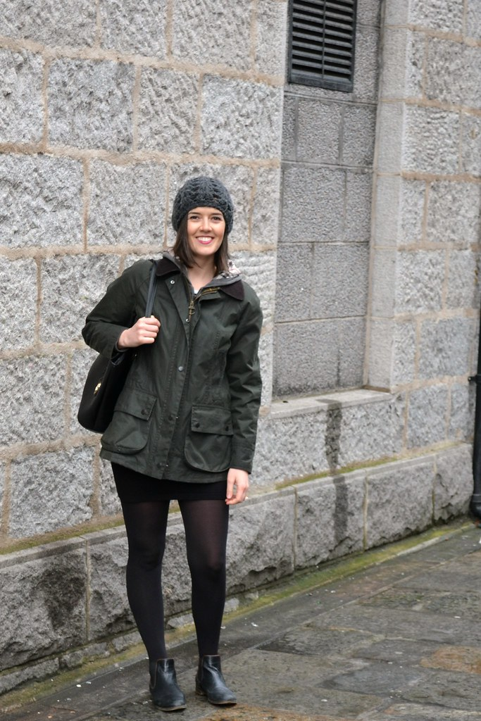UK fashion blogger wearing Barbour