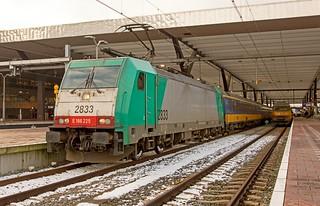 Rotterdam Centraal NMBS 2833 E186 225  met de IC Brussel Zuid