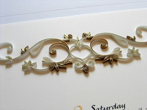 Anniversary Certificate with Gold Quilling