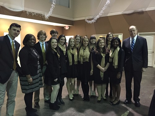 Senator Shelby with students from Pell City High School while in St. Clair County.