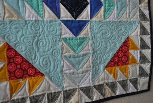 mini quilting closeup