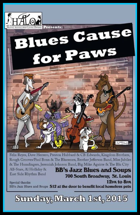 Blues Cause for Paws 3-1-15