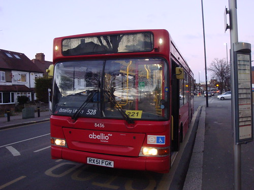 Abellio London 8436 on Route 528, West Middlesex Hospital