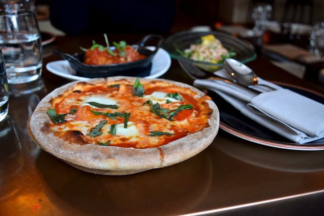 Buffalo Mozzarella, Tomato & Basil Pizzetta at Cucina Asellina, Covent Garden