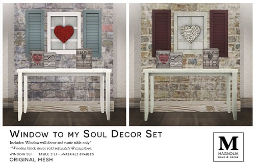 Magnolia - Window to My Soul Decor Set