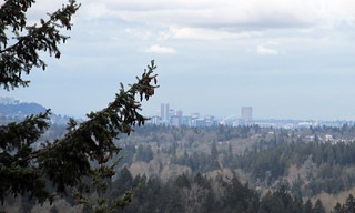 Portland in the distance.