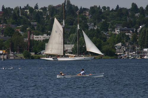 IMG_7494 - Seattle WA - CWB Festival - skiff and SV ADVENTURESS