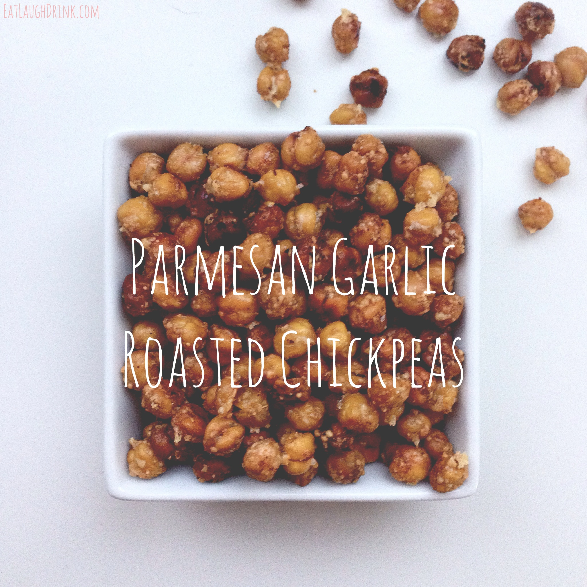 Paremesan Garlic Chickpeas - Healthy homemade snack