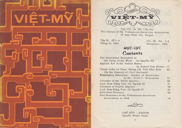 'VIET-MY' Dec 1964, Journal of the Vietnamese-American Association, SAIGON
