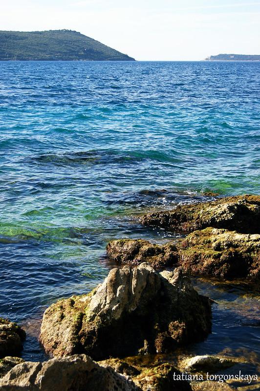 Морской пейзаж ясным апрельским утром