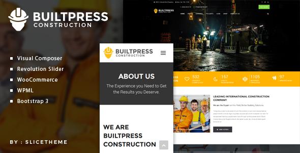 BuiltPress v1.0 - Building Construction WordPress Theme
