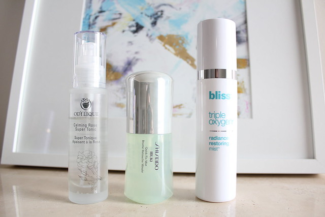 Odylique, Shiseido and Bliss facial essence spray review