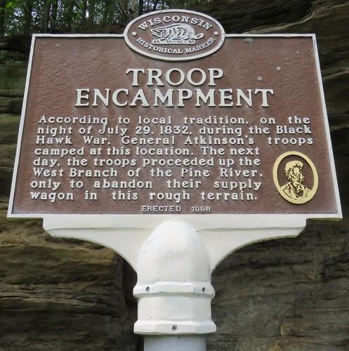Troop Encampment Marker (Rockbridge, Wisconsin)