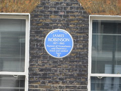Photo of James Robinson blue plaque