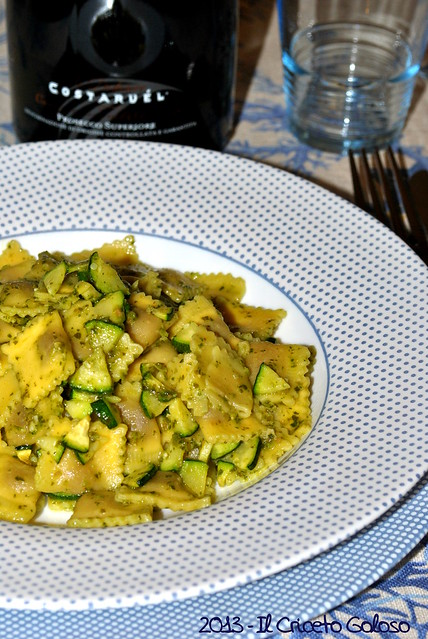 Il criceto goloso quadrucci alla carne con zucchine e pesto for Voltan tortellini