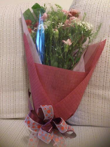 妹妹送給媽媽的母親節花束