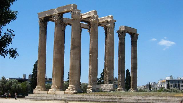Temple of Olympian Zeus, Athens, Ναὸς τοῦ Ὀλυμπίου Διός, Naos tou Olympiou Dios, Olympieion, Columns of the Olympian Zeus