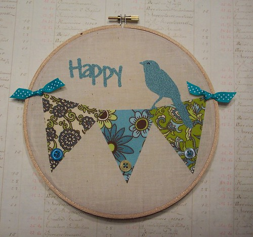 Blue Bird of Happiness Wall Hanging