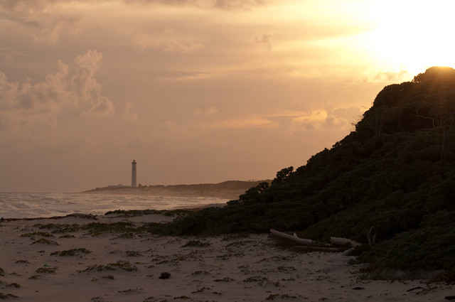Cozumel Lighthouse at sunset