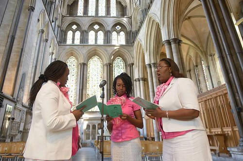 Sudanese Ladies' Singing Group perform in the cathedral