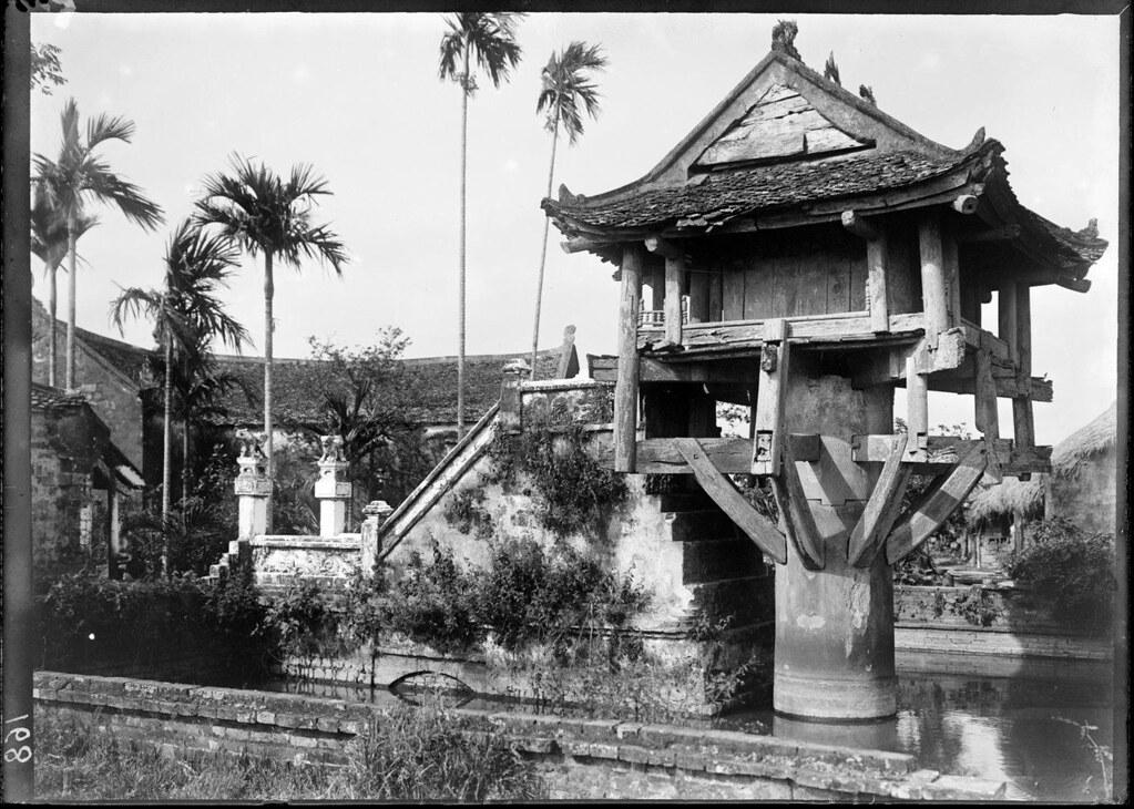 Pagode Chua-Mot-cot ou du Lotus à Hanoi en 1898 - Photo de manhhai