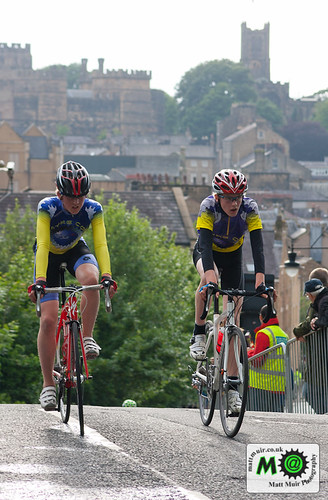 2 Lancaster Cog Set Riders crest the brow of the main climb up Moor Lane in the final stages of the youth even by mattmuir.co.uk