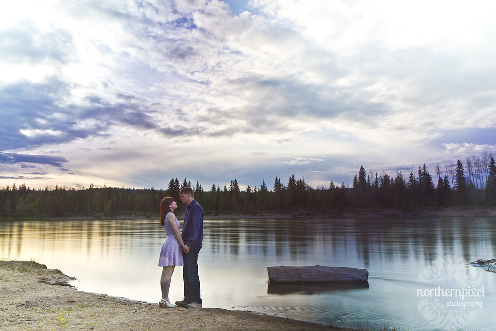 Cory & Dennis - Nechako River Engagement Session
