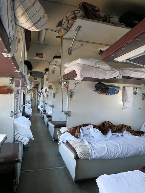 The platzkart train car, which sleeps a million.