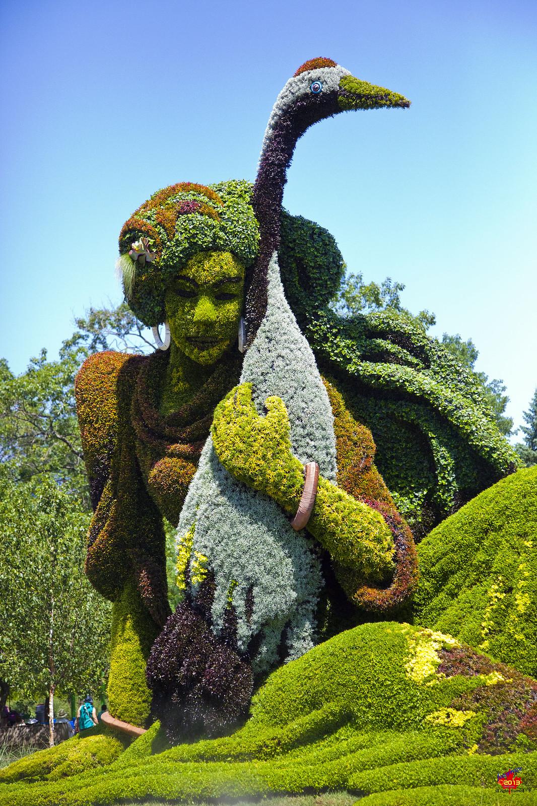 выставка зелёной скульптуры в Монреале