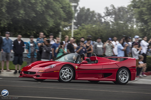 Ferrari F50 showed up at Cars and Coffee Irvine...