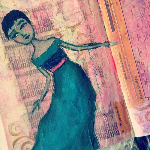 the latest in the #iamtaj traveling #artjournal project. so fun! #travelingartjournaltajstyle #mixedmedia #art #wip