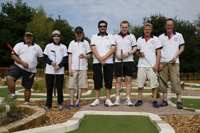 Great Britain team at Wellington Country park course opening