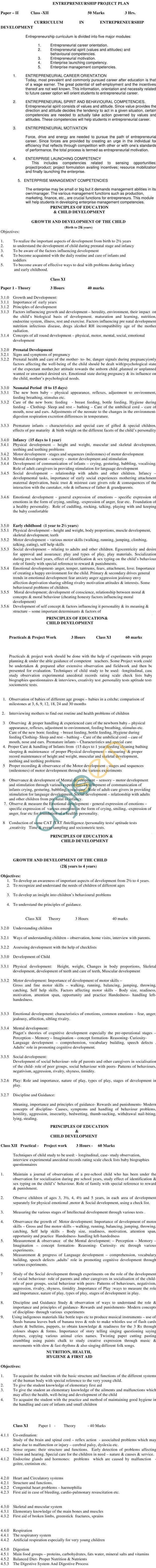 ICSCE CVE-12Creche And Pre SchoolSyllabus 2014