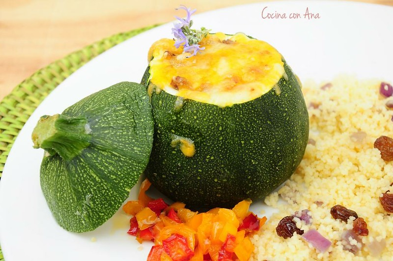 stuffed round zucchini all food recipes. Black Bedroom Furniture Sets. Home Design Ideas