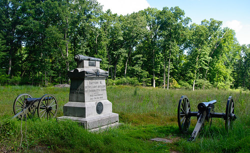 Battery M, 1st New York Light Artillery (Winegar's Battery) monument on Power's Hill