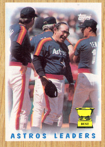 Baseball Card Bust Yogi Berra Astros Leaders 1987 Topps