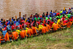 Traditional boat race of the year. Phitsanulok thailand.