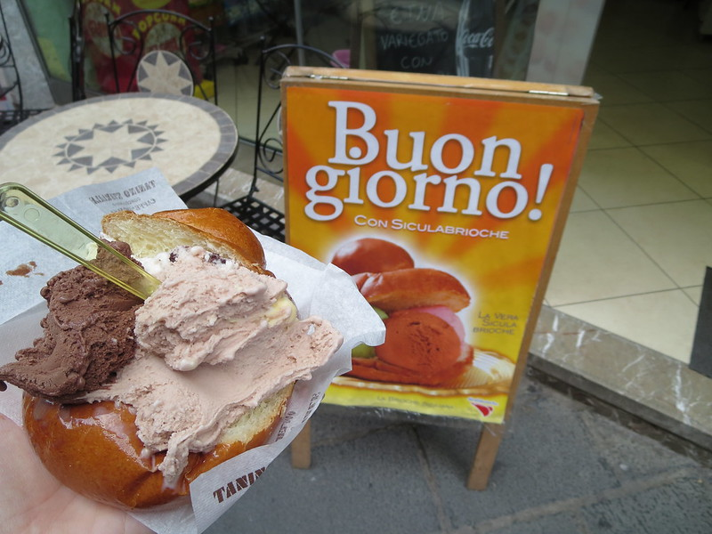 Brioche filled with gelato. Need I say more???